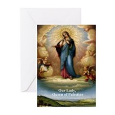 Our Lady Queen of Palestine Greeting Cards