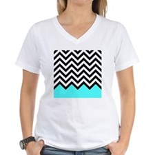 Black, white and turquoise  Shirt