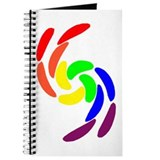 GAY PRIDE CURVY RAINBOW COLOR Journal