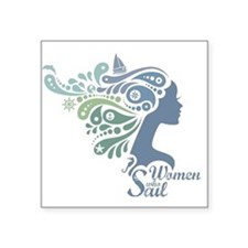 Woman Who Sail Logo Sticker