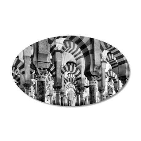Great Mosque of Cordoba 35x21 Oval Wall Decal