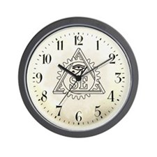 Steampunk Illuminati Wall Clock