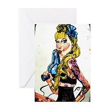 sexy tattoo girl Greeting Card