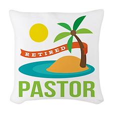 Retired Pastor Woven Throw Pillow