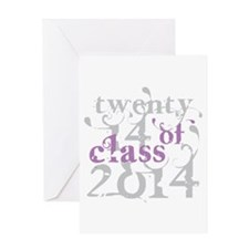 Swirly Class of 2014 Greeting Card