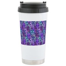Purple Calavera Travel Mug