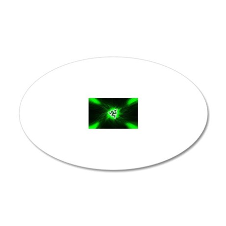 Razer Reptile Glide (Mousepa 20x12 Oval Wall Decal