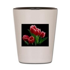 Tulip Flower Red Plant Shot Glass
