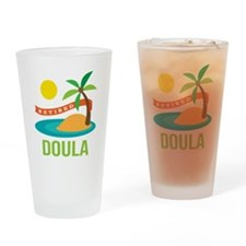 Retired Doula Drinking Glass