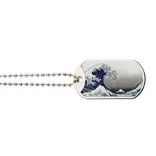 great wave of Kanagawa hokusai Dog Tags
