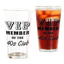 40's Club Birthday Drinking Glass
