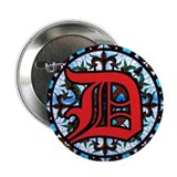 Stained Glass D 2.25&quot; Button (10 pack)