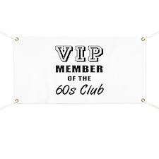 60's Club Birthday Banner