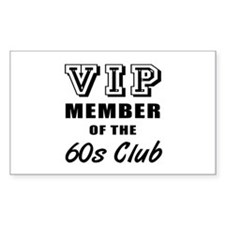 60's Club Birthday Decal