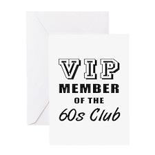 60's Club Birthday Greeting Card
