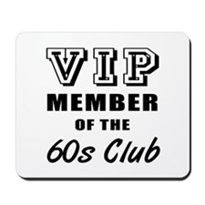 60's Club Birthday Mousepad