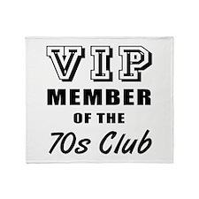 70's Club Birthday Throw Blanket