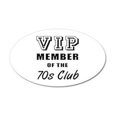 70's Club Birthday 35x21 Oval Wall Decal