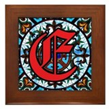 Stained Glass E Framed Tile