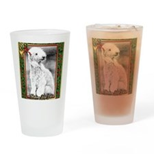 Bedlington Terrier Dog Christmas Drinking Glass