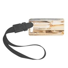 Wood Texture Luggage Tag