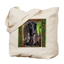 Afghan Hound Dog Christmas Tote Bag