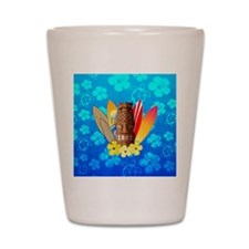 Tiki And Surfboards Shot Glass