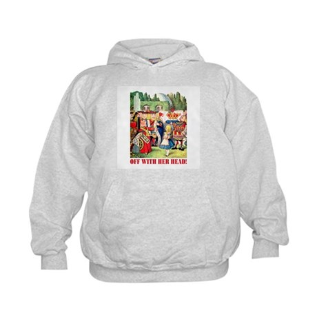 OFF WITH HER HEAD Kids Hoodie