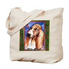 Basset Hound Dog Christmas Tote Bag