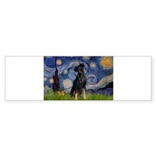 5.5x7.5-Starry-MinPin2-Nat Bumper Bumper Sticker