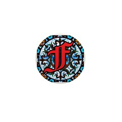 Stained Glass F Mini Button (100 pack)