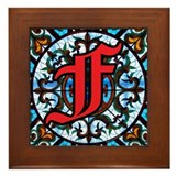 Stained Glass F Framed Tile
