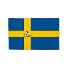 Team Biathlon Sweden 3'x5' Area Rug