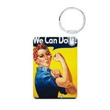 Rosie the Riviter We Can D Keychains
