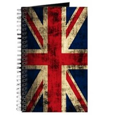 Union Jack Grunge Distressed Journal