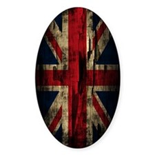 Union Jack Grunge Paint Peel Decal