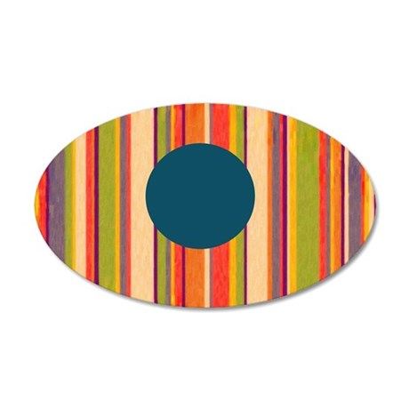 color barcode 35x21 Oval Wall Decal