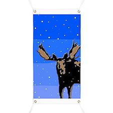 Moose in Winter Banner