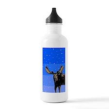 Moose in Winter Water Bottle