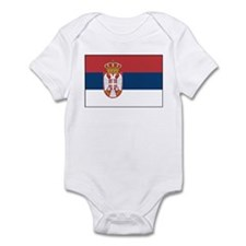 Serbia Flag Infant Bodysuit