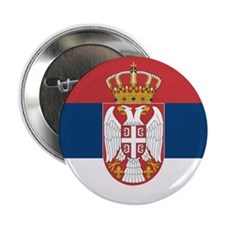 Serbia Flag 2.25&Quot; Button
