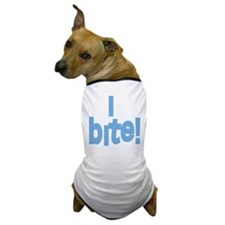 I Bite blue Dog T-Shirt