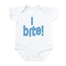 I Bite blue Infant Bodysuit