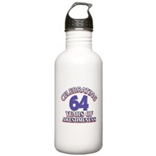 64 years old birthday design Water Bottle