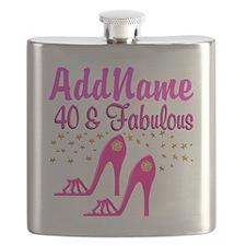 FABULOUS 40TH Flask