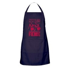 Though She Be But Little/Fierce Shoes Apron (dark)