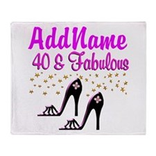 GLAMOROUS 40TH Throw Blanket