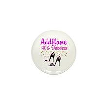 GLAMOROUS 40TH Mini Button (10 pack)
