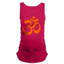 Orange Om Symbol Maternity Tank Top