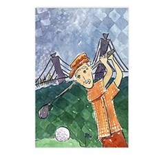 Stacia Nicole's Golfer Postcards (Package of 8)